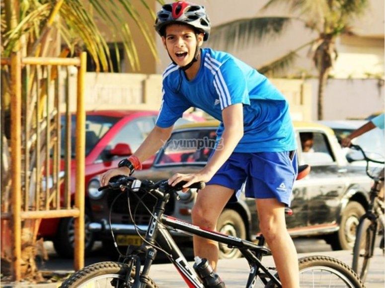 Riding a bike around Sotogrande
