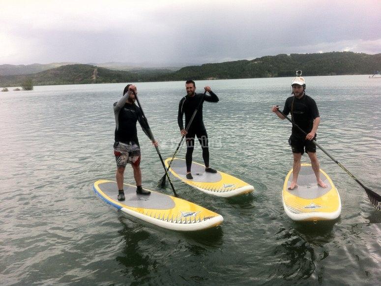 paddle sur en el pirineo aragones