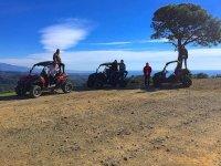 Foto di gruppo a Marbella facendo tour in carrozza