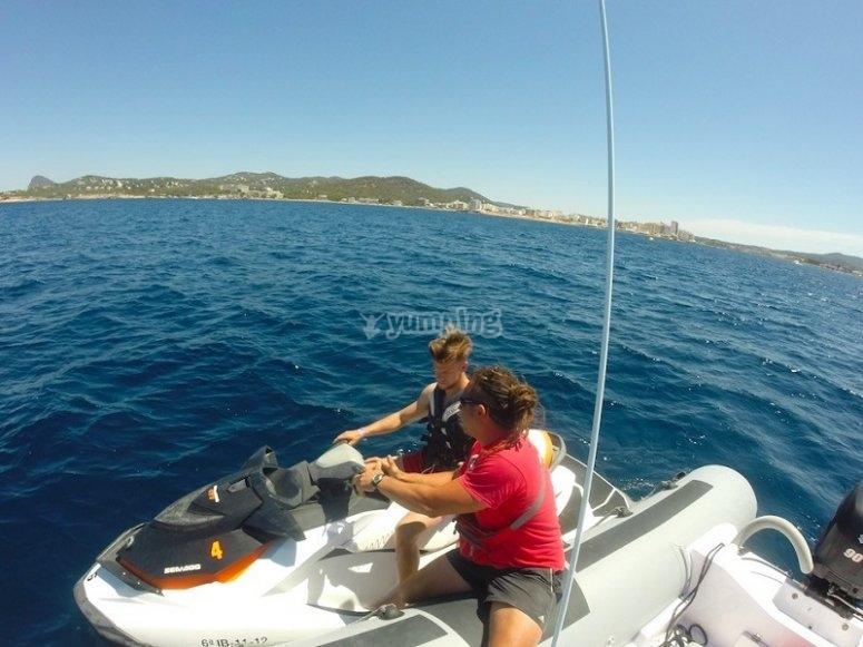 Motos de agua en Ibiza