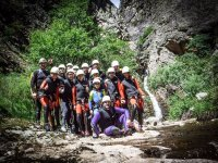 Group of young cavers