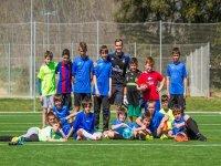 Foto della squadra sul campo di calcio