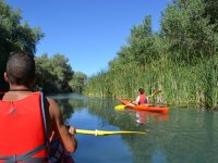 Canoe route + soda in Tail of Arcos reservoir