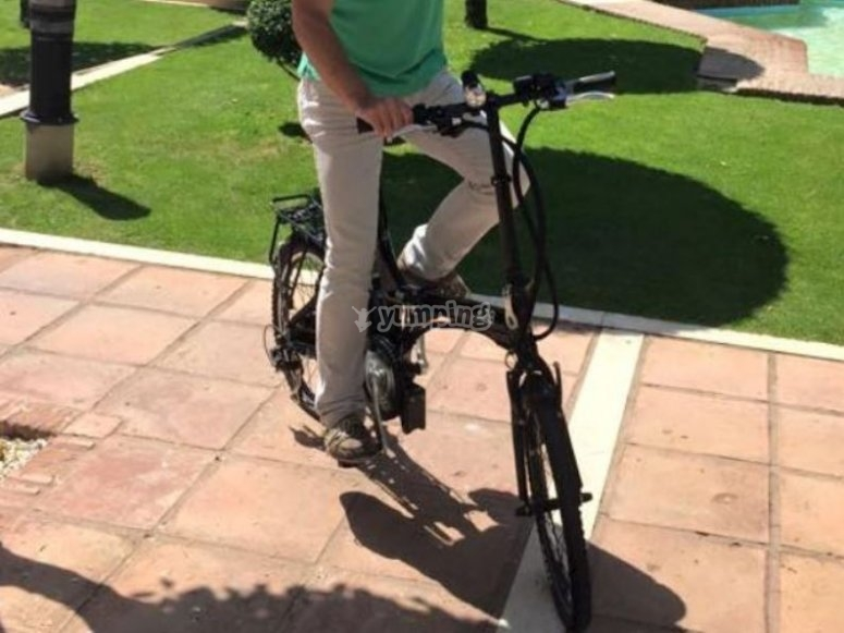 Bici electrica en Cadiz