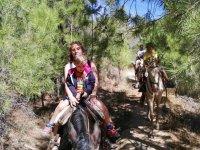 Rutas a caballo en familia