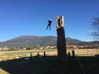 Salto en tirolina en Montseny
