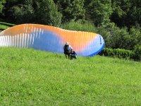 Aterrizando el parapente