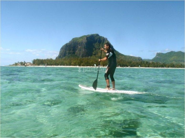Paddle surf en el paraiso
