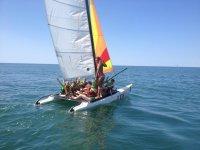 Primer contacto con el catamaran