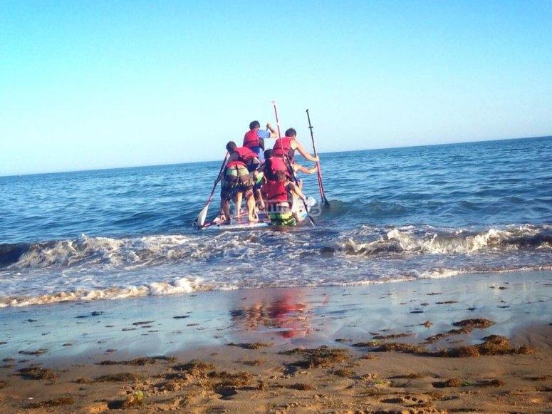 Comenzando a remar en Huelva
