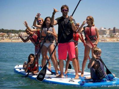 Hacer paddle surf gigante en Huelva 1 hora