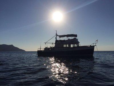 Puesta de sol en barco privado en Mallorca