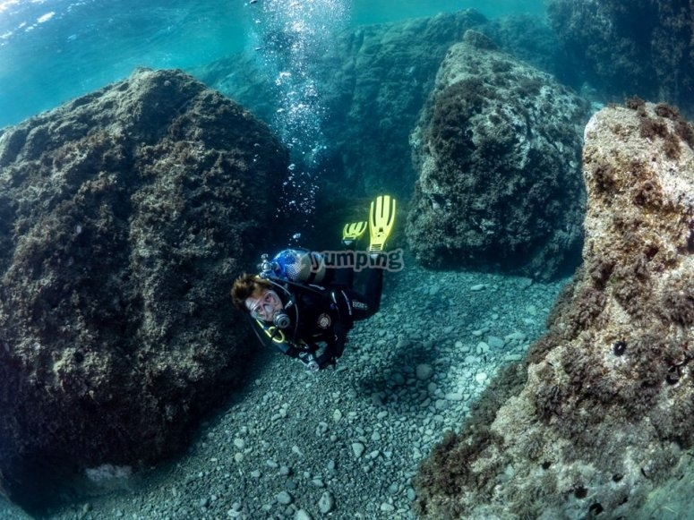 Diving immersion in Cabo de Gata