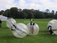 Enjoy playing bubble football in Madrid