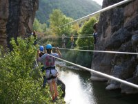 Crossing Tibetan bridges