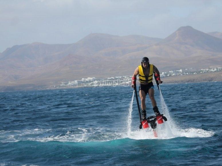 Flyboard volando lanzarote
