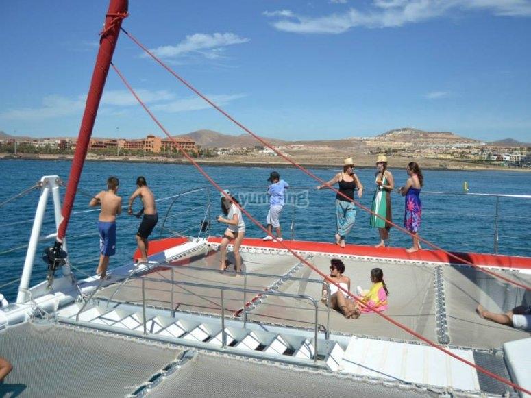 cubierta catamaran