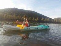 Nina in the canoe