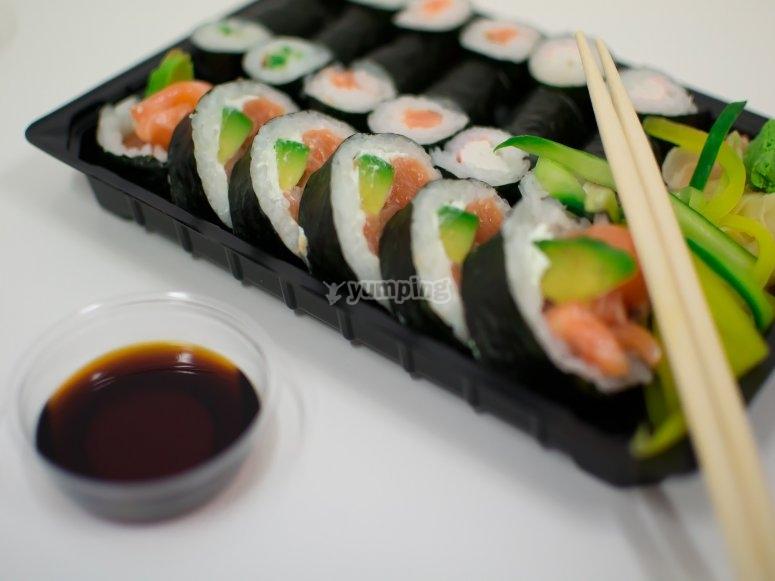sushi para dos