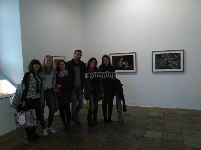 grupo en una galeria