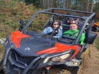 Couple aboard the buggy