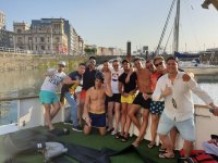 Party boat in Gijón with friends