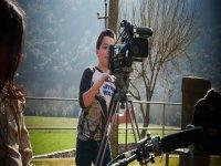 Aprendiendo a grabar en campamento audiovisual