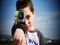Grabando con la GoPro en el campamento