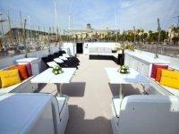Solarium barco yate de lujo