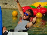 Pedaleando en el agua