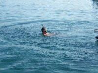 Haciendo snorkel en Llanca