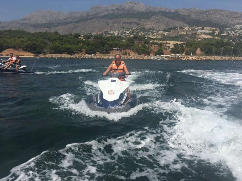 Jet skiing in Altea