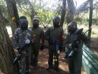 Paintball games with friends
