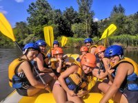 Rafting down the river Sil