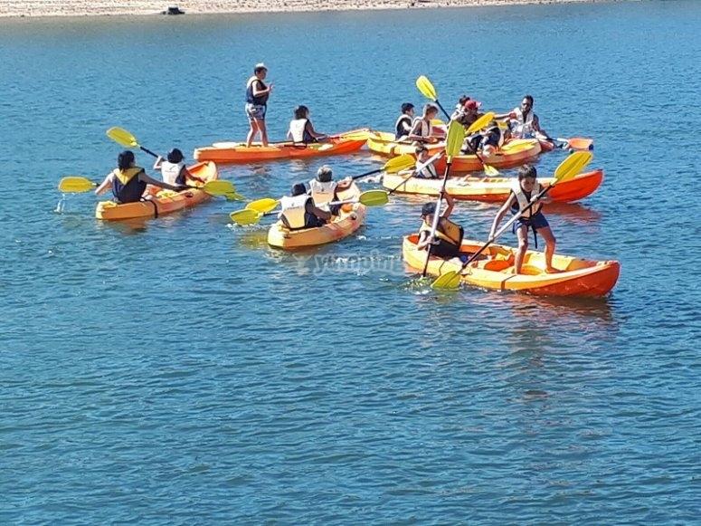 Paseo en kayak en campamento de Caceres