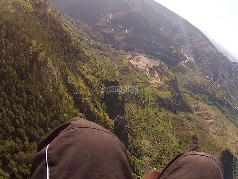 滑翔伞Leza采石场