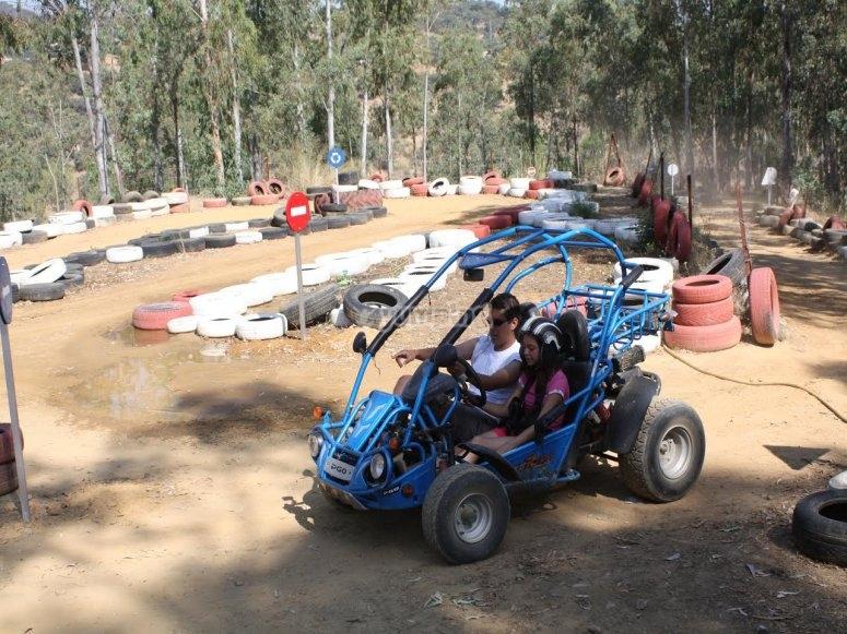 Karts on the track