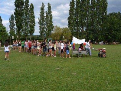 Summer camp in a farm school of Asturias on August