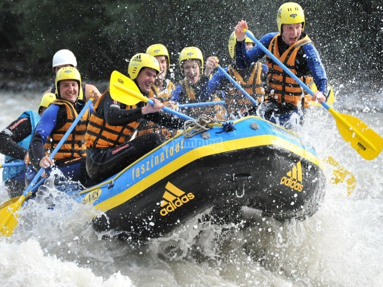 Stag party rafting