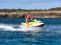 水上摩托车游览海滩南梅诺卡岛1小时