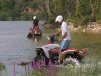 Cruzando el río Guadalfeo
