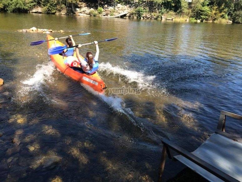 Entrada de la canoa