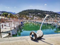 Segway in the port of Soller