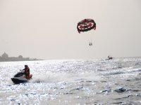 夫妇帆伞滑伞运动儿童滑伞