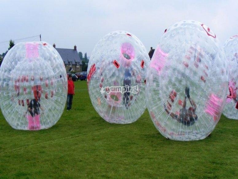 Bubble football for teenagers