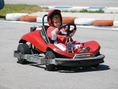 Child karting round in Almayate Bajo