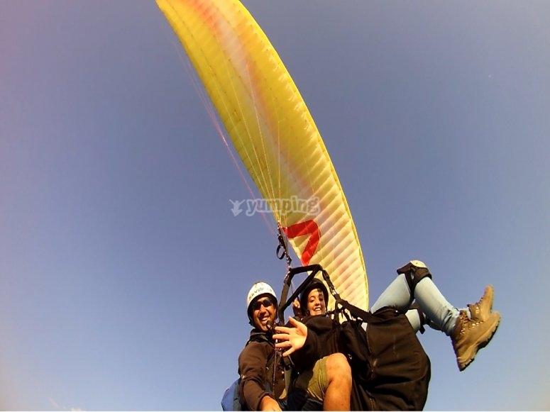 instructor y parapente