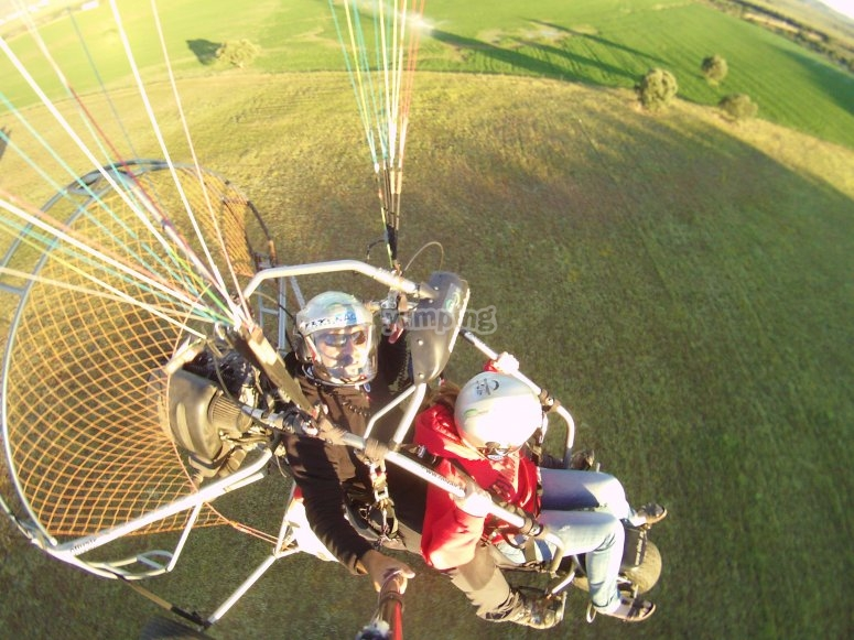 Paramotoring over the valley