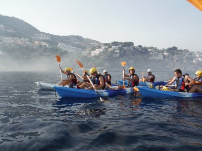 Canoe route for groups around andalucia coast