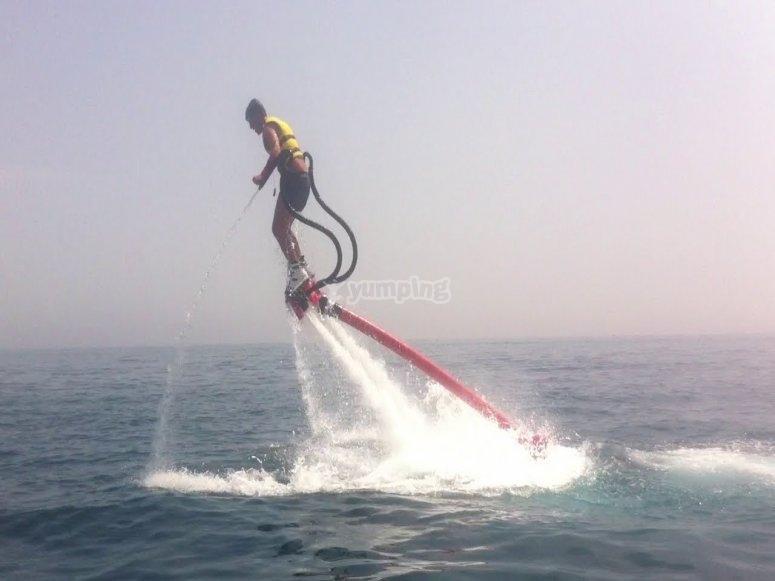 Practicando flyboard